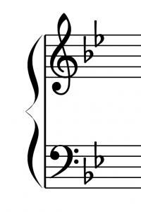 Key signature of G minor