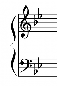 Key signature of G minor